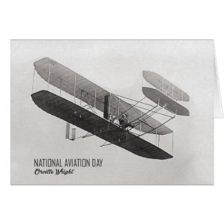 Vintage National Aviation Day Greeting Card