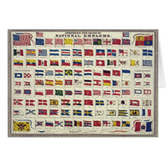 Vintage National Flags Chart - created 1863 Cards