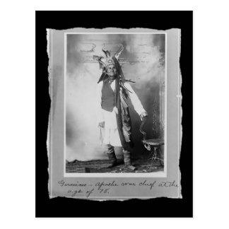 Vintage Native American Geronimo Apache Postcard