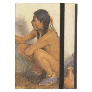 Vintage Native American, Indian Artist by Couse iPad Air Cover