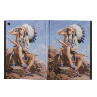 Vintage Native American Indian, The Scout by Leigh iPad Air Cases