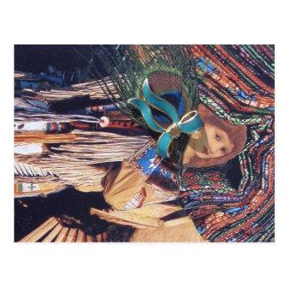 Vintage Native American Montage Postcard