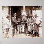 Vintage Native American Standing Elk Poster
