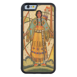 Vintage Native American Woman Village Forest Maple iPhone 6 Bumper Case