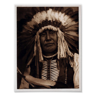 Vintage Native-American, Yellow Owl Poster