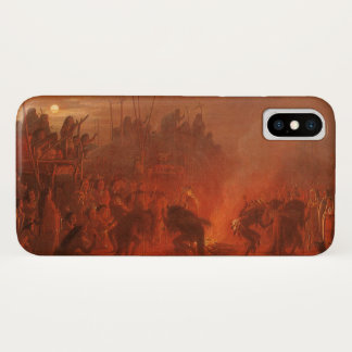 Vintage Native Americans, Buffalo Dance by Wimar iPhone X Case