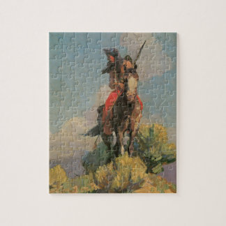 Vintage Native Americans, Crow Outlier by Dunton Jigsaw Puzzle