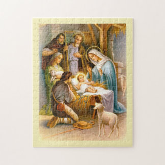 Vintage nativity jigsaw puzzle