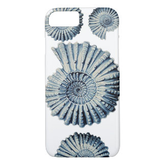 Vintage Nature Illustration Blue Spiral Shell iPhone 8/7 Case