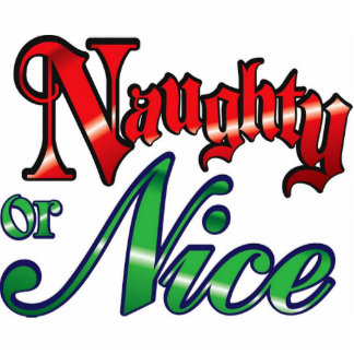 Vintage Naughty or Nice Cut Outs