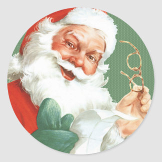 Vintage Naughty or Nice Santa Stickers -