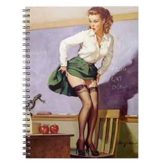 Vintage Naughty Teacher Pin Up Notebook