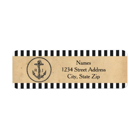 Vintage Nautical Anchor - Address Labels