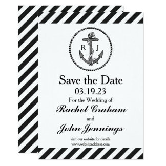 Vintage Nautical Anchor - Save the Date Card