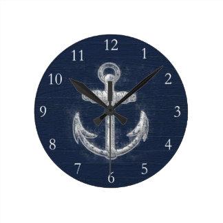 Vintage Nautical Anchor Wall Clock
