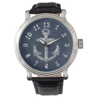 Vintage Nautical Anchor Watch