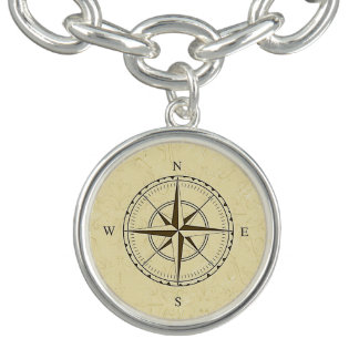 Vintage Nautical Compass Rose Ivory