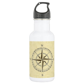 Vintage Nautical Compass Rose Ivory 532 Ml Water Bottle