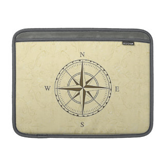 Vintage Nautical Compass Rose Ivory MacBook Air Sleeve