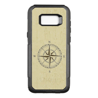 Vintage Nautical Compass Rose Ivory OtterBox Commuter Samsung Galaxy S8+ Case