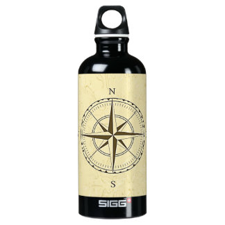 Vintage Nautical Compass Rose Ivory SIGG Traveller 0.6L Water Bottle