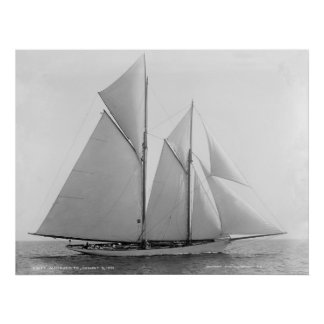 Vintage Nautical Schooner Marguerite Print