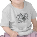 Vintage nautical steampunk octopus print t shirts