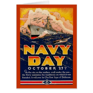 Vintage Navy Day Card