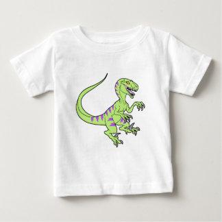Vintage neon velociraptor green t shirt