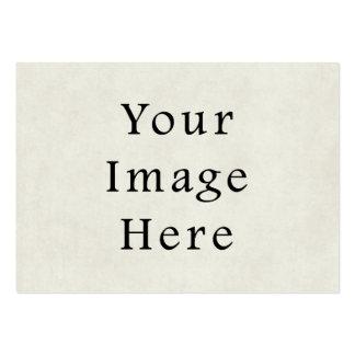 Vintage Neutral Ivory White Parchment Paper Business Card Templates