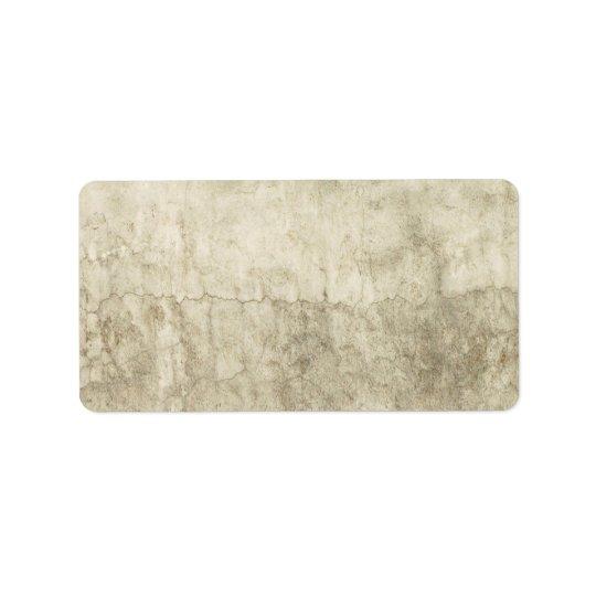 Vintage Neutral Plaster Paint Background Grunge Address Label
