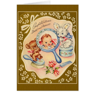 Vintage New Baby Congratulations Card
