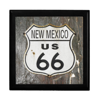 Vintage New Mexico Route 66 Sign Gift Box