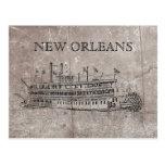 Vintage New Orleans Stern Wheeler Postcard