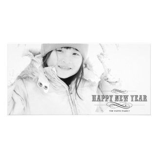 VINTAGE NEW YEAR PORTRAIT PHOTO CARD