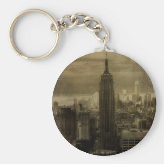 Vintage New York City Basic Round Button Key Ring