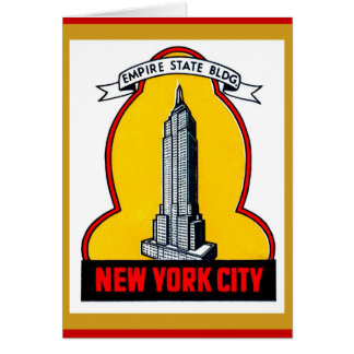 Vintage - New York City Empire State Building Card