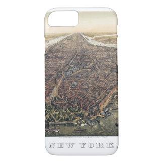 Vintage New York City, Manhattan, Brooklyn Bridge iPhone 7 Case