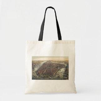 Vintage New York City, Manhattan, Brooklyn Bridge Tote Bag