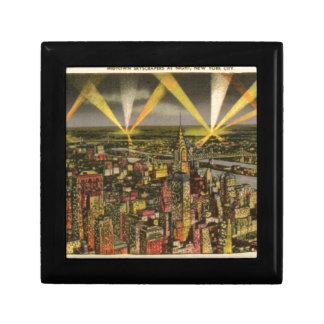Vintage New York City Skyline Gift Box