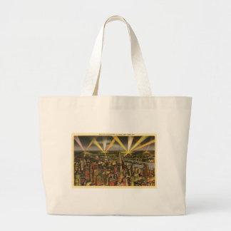Vintage New York City Skyline Large Tote Bag