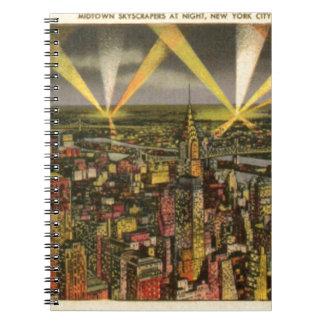 Vintage New York City Skyline Notebooks