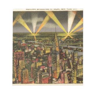 Vintage New York City Skyline Notepad
