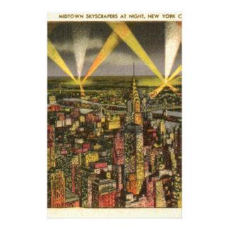 Vintage New York City Skyline Stationery