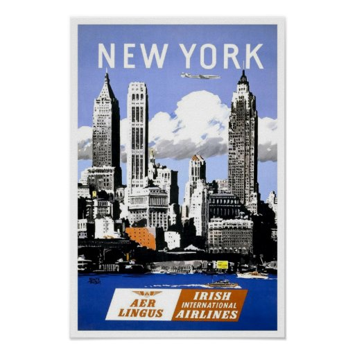 Vintage New York City Travel Poster