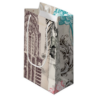 Vintage New York Design Small Gift Bag