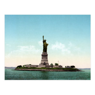 Vintage New York harbor, Statue of Liberty 1905 Postcard