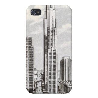 Vintage New York Rockefeller Center iphone 4 Case