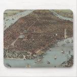 Vintage New York Waterfront Mousepad