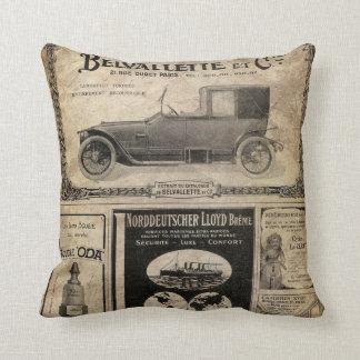 Vintage Newspaper Custom Gift Cushion